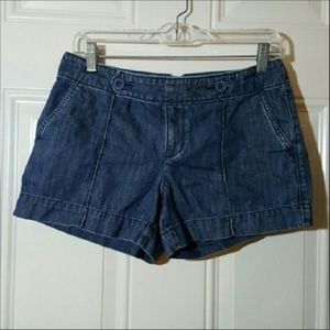 Ann Taylor LOFT Blue Denim Button Shorts 2